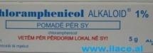 Chloramphenicol Alkaloid 1% (pomadë për sy)