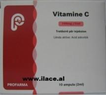 VITAMINE C — Tretësirë për injeksion — 100mg /2 ml Profarma